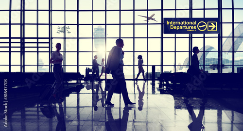 Leinwanddruck Bild International Terminal Business Travel Transportation Concept