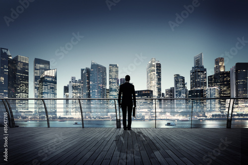 Businessman Corporate Cityscape Urban Scene Building Concept - 81647785