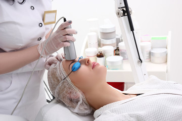 Treatment of skin using a laser