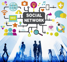 Social Network Internet Online Society Connecting Concept
