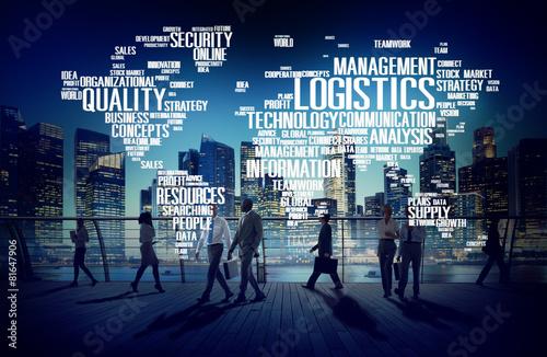 Logistics Management Freight Service Production Concept - 81647906
