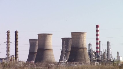 Oil refinery scenery