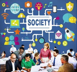 Society Community Global Together Connecting Internet Concept