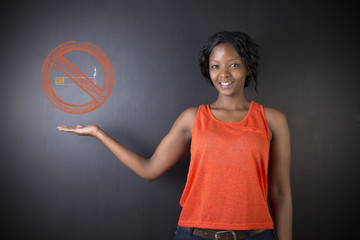 No smoking tobacco South African or African American woman