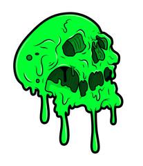 Melting Halloween Skull