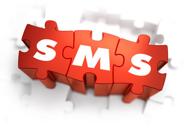 SMS - Text on Red Puzzles.