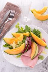 fresh melon and ham