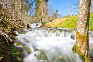 Wasserfall - Lautertal, schwäbische Alb im Frühling