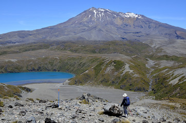 Mount Ruapehu landscape in Tongariro National Park.