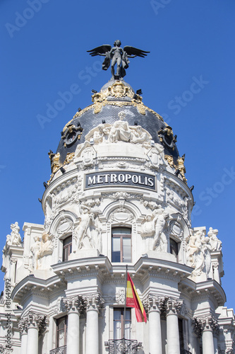 Fotobehang Madrid Metropolis palace in madrid