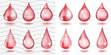 Transparent and opaque red drops poster