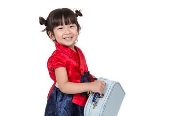 cute Asian Korean kid in costume