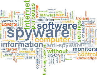spyware wordcloud concept illustration