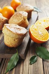 Homemade orange muffins
