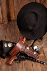 Cowboy Hat and Pistol
