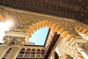 Aljaferia one of the best preserved Moorish palaces in city Sara