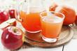 Juice of apples and pumpkins