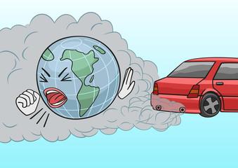 Car exhaust.
