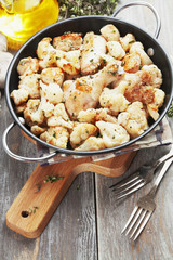 Roasted cauliflower with chicken