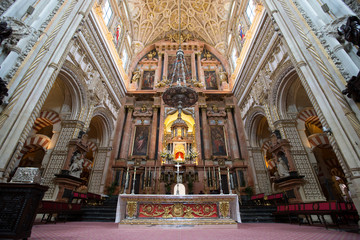 Interior view of La Mezquita Cathedral