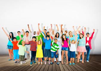 Community Togetherness Children Multiethnic Cheerful Concept