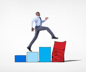 Businessman Financial Risk Crisis Bankruptcy Concept