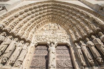 The Notre dame de Paris church. Decoration elements. Paris