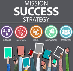 Mission Success Strategy Achievement Strategy Concept
