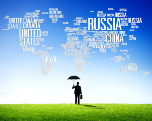 Russia Global International Countries Globalization Concept