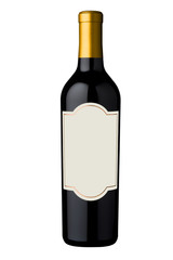 wine bottle with yellow cap