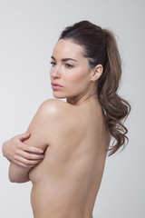 Naked woman posing