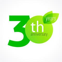 30 anniversary green logo
