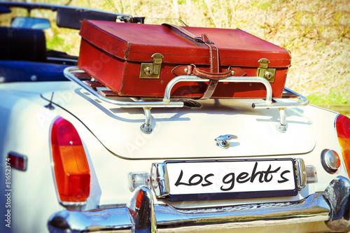 In de dag Vintage cars Los geht´s !
