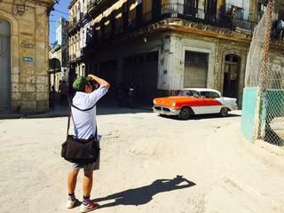 Photographer in La Habana, Cuba
