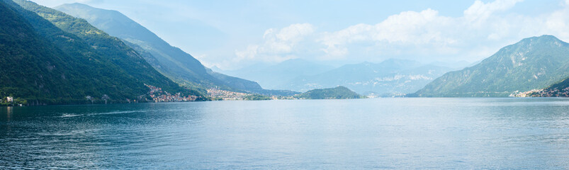 Lake Como summer panorama (Italy).