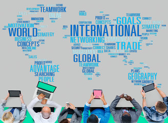 International Global Network Globalization International Concept