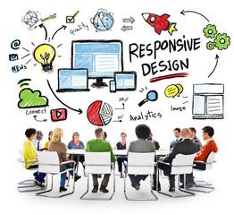 Responsive Design Internet Web Online People Meeting Concept