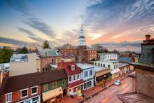 "Постер, картина, фотообои ""Annapolis, Maryland, USA Town Skyline"""