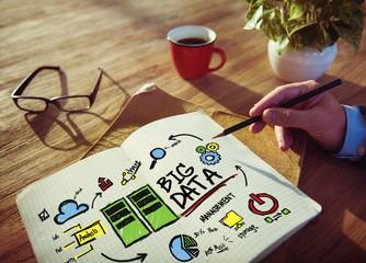 Businessman Big Data Design Planning Information Concept