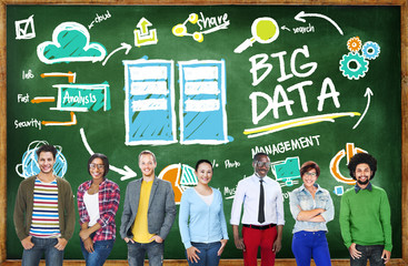 Deversity People Big Data Design Planning Information Concept