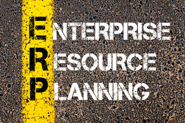 Acronym ERP - Enterprise Resource Planning