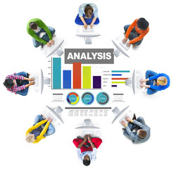 Analysis analyzing information bar graph data statisitc concept