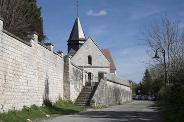 Façade ouest de l'église Sainte Radegonde (Giverny)