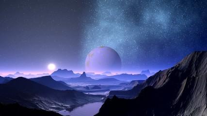 Nebula and planet aliens