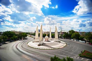 The Democracy Monument in bangkok , THAILAND