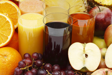 Assorted juices