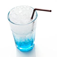 Blue Soda isolated on white background