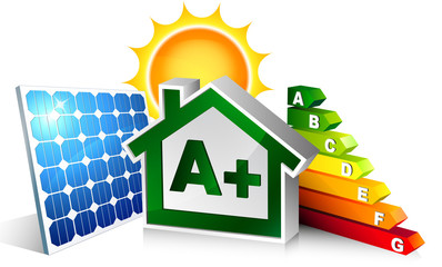 house energetic with photovoltaic