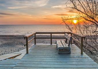 Coastal landscape at village of Saulkrasti, Baltic Sea, Latvia