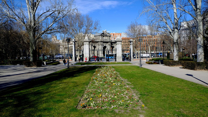 Puerta de Alcala  in a view from the Retiro Park in Madrid